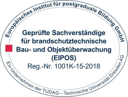 Siegel EIPOS - Sachverständige für branschutztechnische Bau- und Objektüberwachung