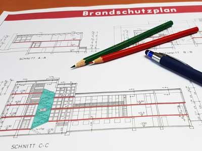 Brandschutzpläne als Bauvorlage
